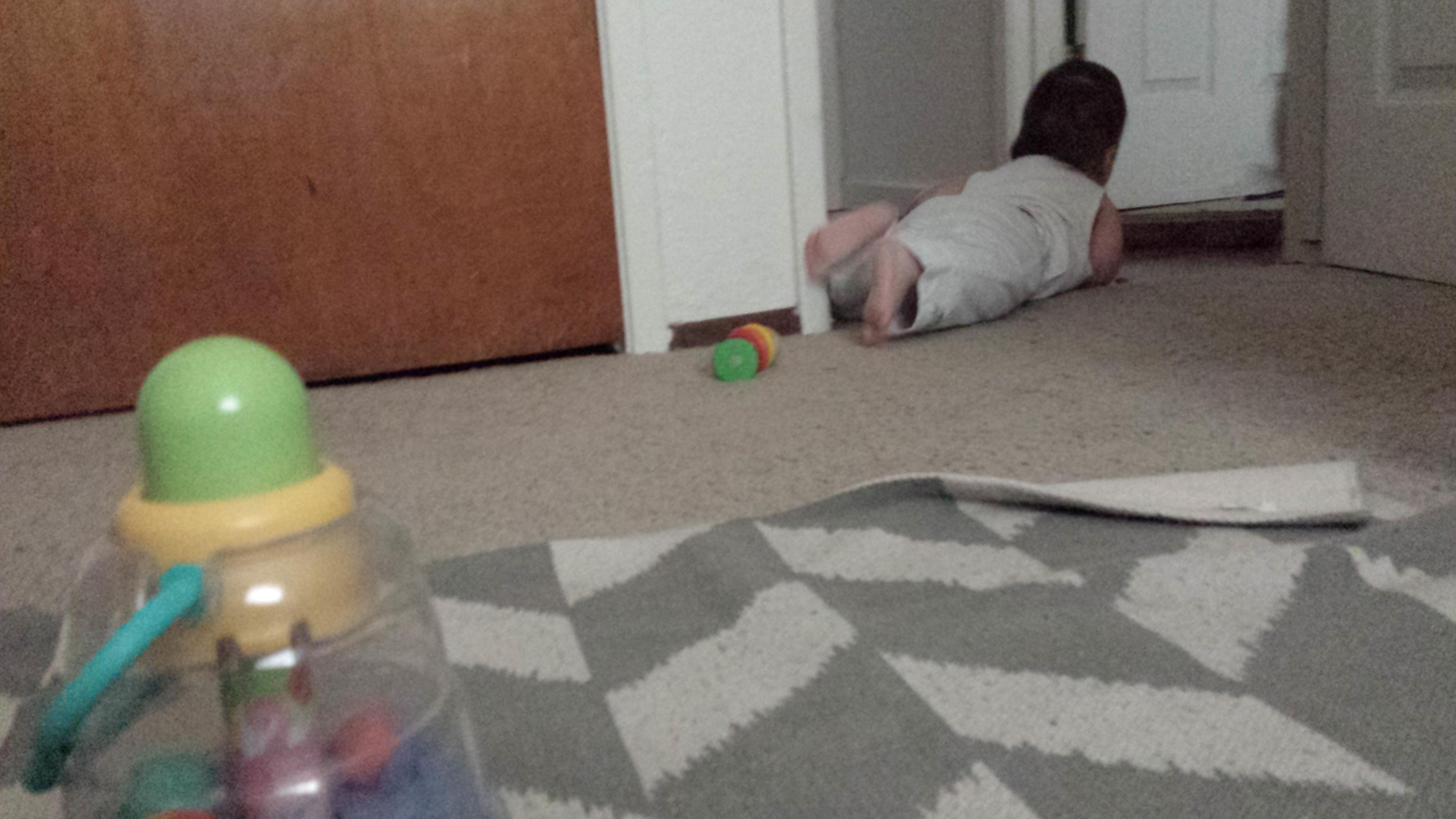 crawling away